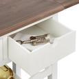 Servierwagen Cookie - Weiß/Kieferfarben, Holz/Kunststoff (85/82/36cm) - Premium Living