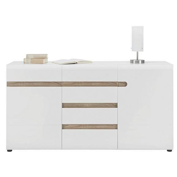 Sideboard in Weiß Hochglanz - Weiß, MODERN, Holzwerkstoff/Kunststoff (164/87/42cm) - Mömax modern living