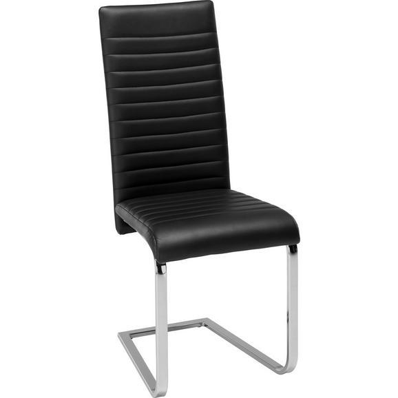 Nihajni Stol Elisa -top- - črna/krom, Moderno, kovina/tekstil (43/101/59cm) - Modern Living