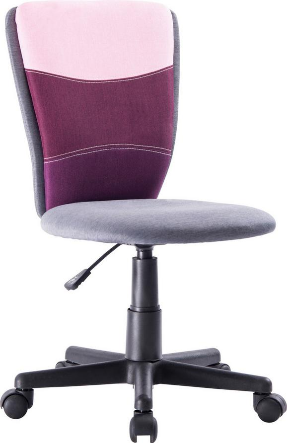 Vrtljivi Stol Betty - črna/večbarvno, kovina/umetna masa (41/81-93/51,5cm) - Mömax modern living