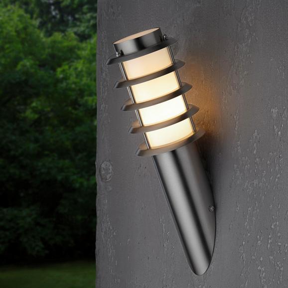 Außenleuchte max. 20 Watt 'Dakota' - Edelstahlfarben, MODERN, Kunststoff/Metall (11,6/40cm) - Bessagi Garden