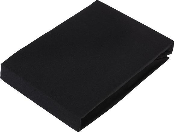 Spannbetttuch Elasthan Topper 100x200cm - Anthrazit, Textil (100/200/15cm) - Premium Living