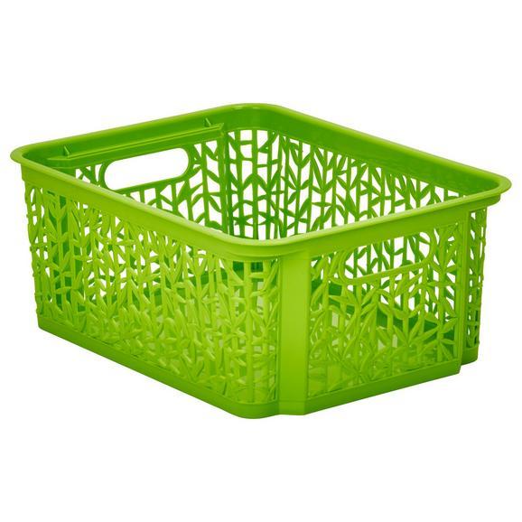 Košarica Za Shranjevanje Bamboo - zelena, umetna masa (29/22/12cm) - Mömax modern living