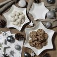 Dekoteller Sina Weiß/silber - Silberfarben/Weiß, Keramik (21cm) - Mömax modern living
