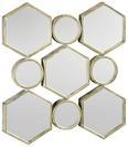 Spiegel Beni ca. 88x85,5 cm - Goldfarben, MODERN, Glas/Holzwerkstoff (88/85,5/6,5cm) - Mömax modern living