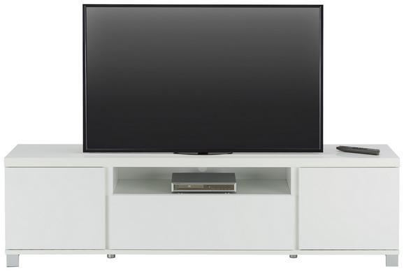 Lowboard in Weiß - Alufarben/Weiß, MODERN, Holzwerkstoff/Metall (193/54/40cm) - Mömax modern living