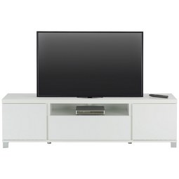 Lowboard in Weiß Hochglanz - Alufarben/Weiß, MODERN, Holzwerkstoff/Metall (193/54/40cm) - Mömax modern living