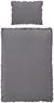 Bettwäsche Rüschen Grau 140x200cm - Grau, ROMANTIK / LANDHAUS, Textil (140/200cm) - Zandiara