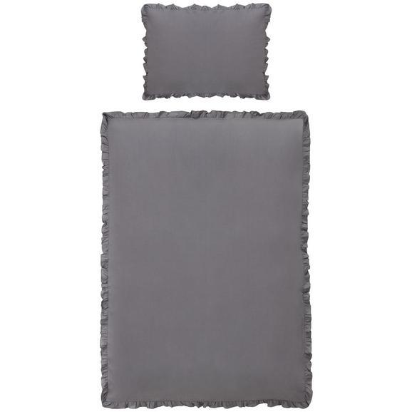 Posteljnina Rüschen - siva, Romantika, tekstil (140/200cm) - Zandiara