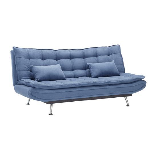 Canapea Extensibilă Cloud - albastru închis, lemn/metal (196/92/98cm) - Modern Living