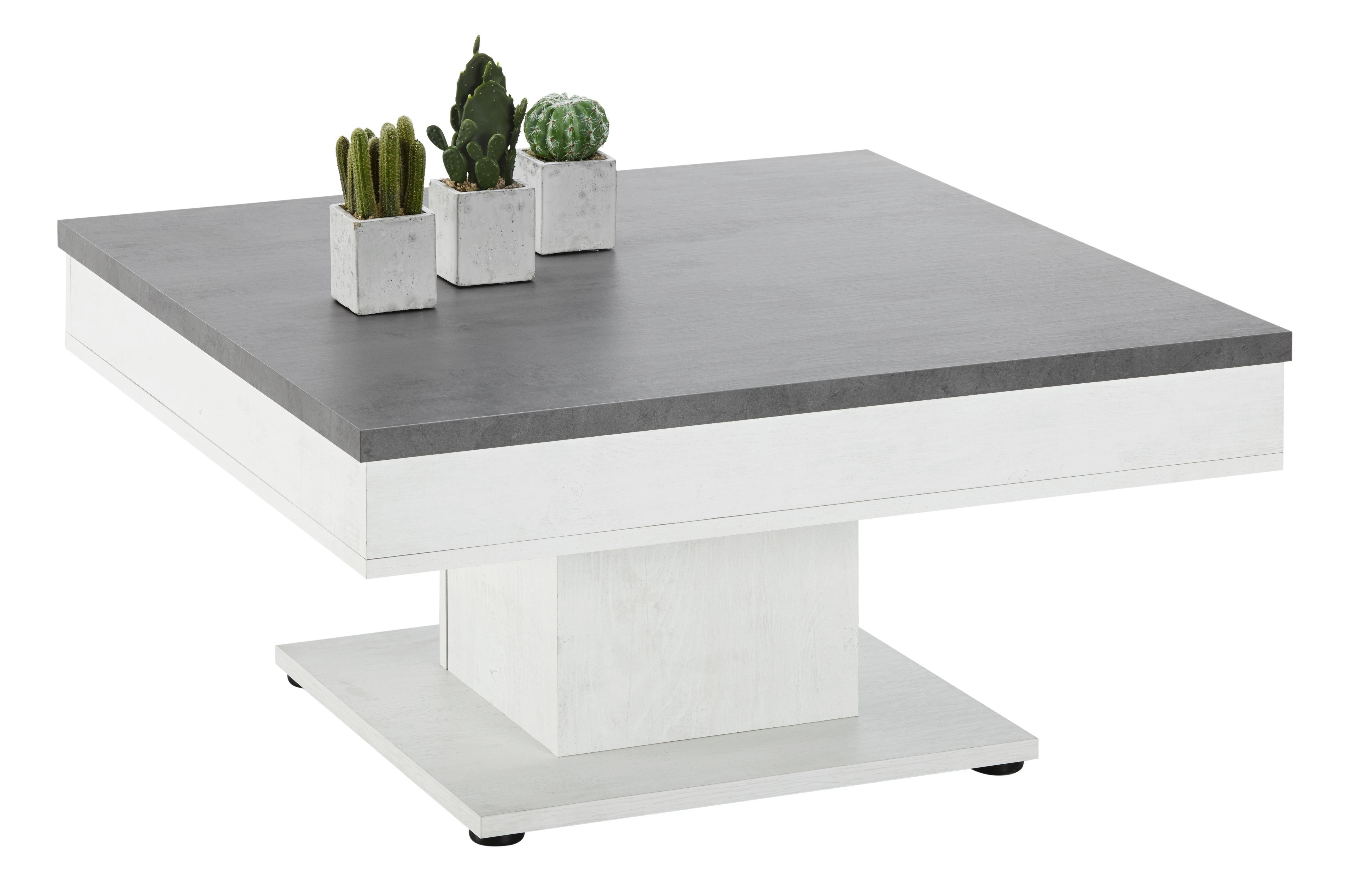 Couchtisch in Weiß/Grau - Eichefarben, MODERN, Holzwerkstoff (80/40/80cm) - MÖMAX modern living