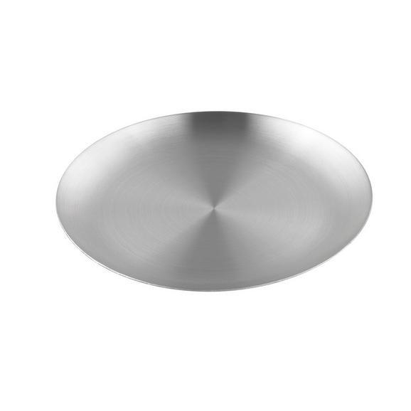 KERZENTELLER Aurora Silber - Silberfarben, Metall (12/1,2cm) - Mömax modern living