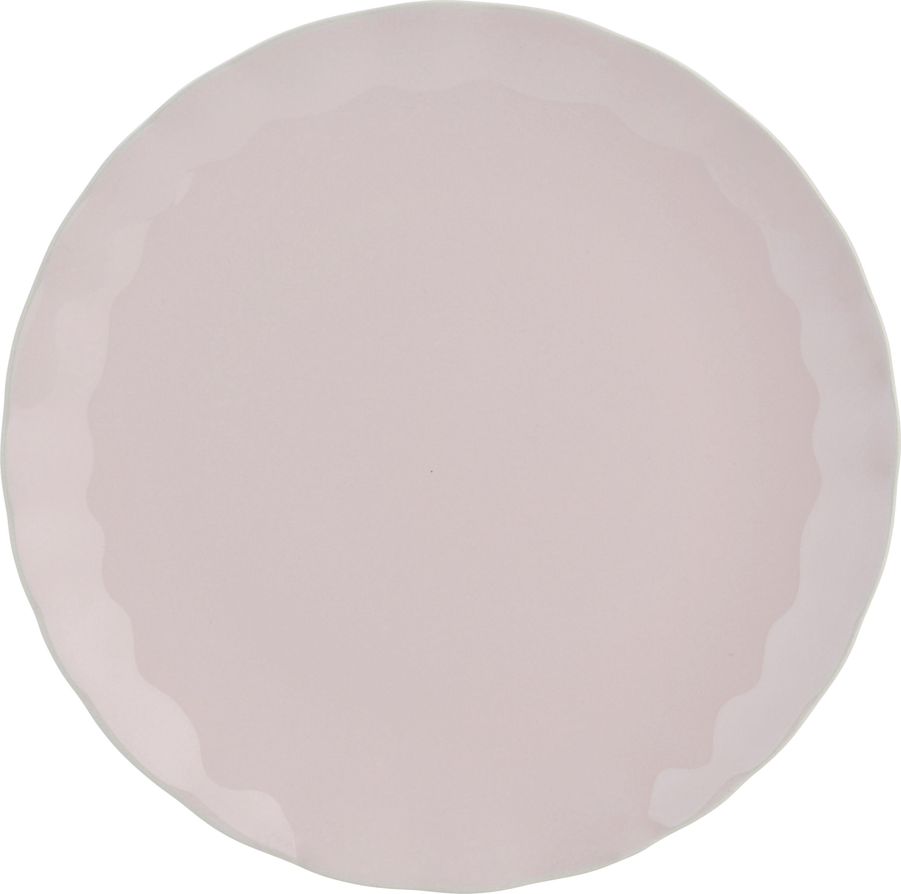 Plitvi Krožnik Pauline - roza, Romantika, keramika (26cm) - ZANDIARA