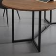 Ausziehtisch aus Massivholz ca. 160-200x100 cm 'Samuel' - Schwarz/Akaziefarben, MODERN, Holz/Metall (160/200/100/75cm) - Bessagi Home