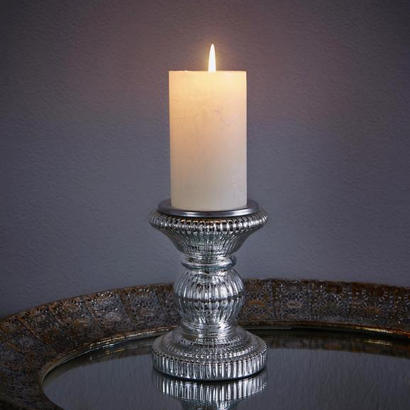 Kerzenhalter Lippa - Silberfarben, KONVENTIONELL, Glas/Metall (11/15cm) - MÖMAX modern living
