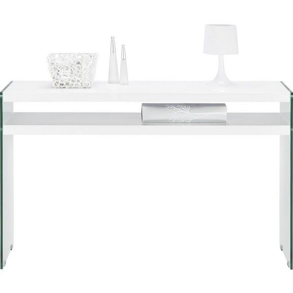 konsole in wei aus metall glas holz online kaufen m max. Black Bedroom Furniture Sets. Home Design Ideas