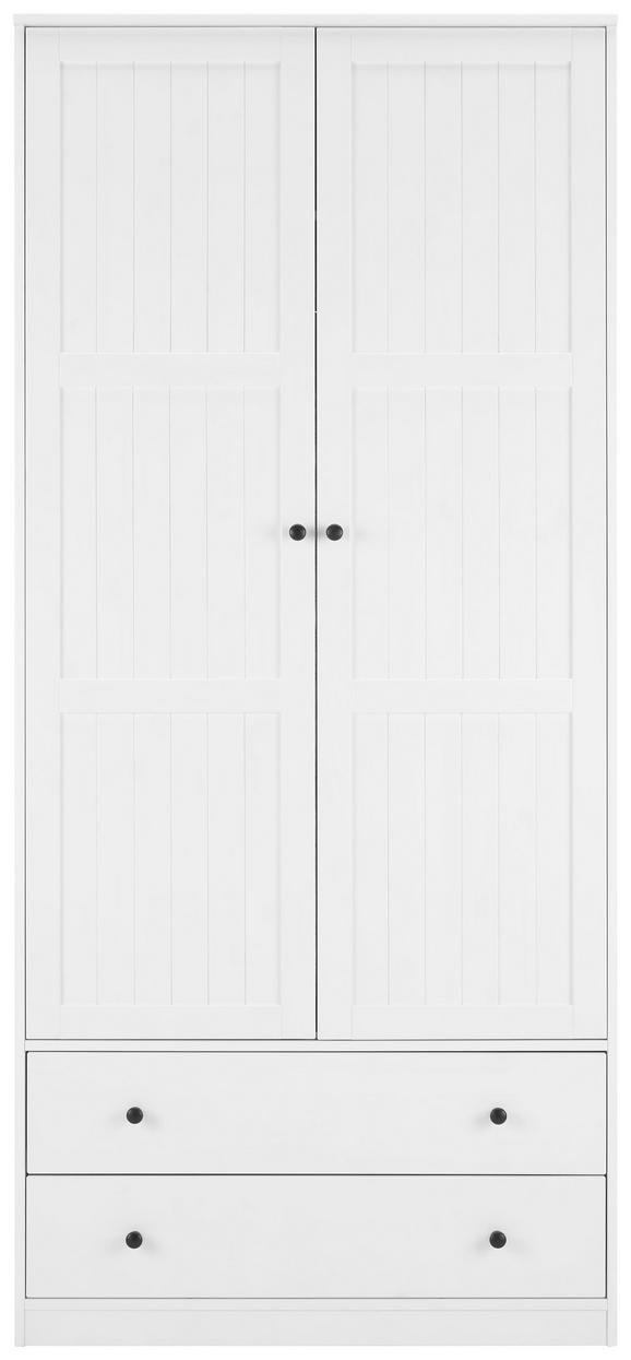 Kleiderschrank Weiß - Weiß, ROMANTIK / LANDHAUS, Holz (100/218/60cm) - Modern Living