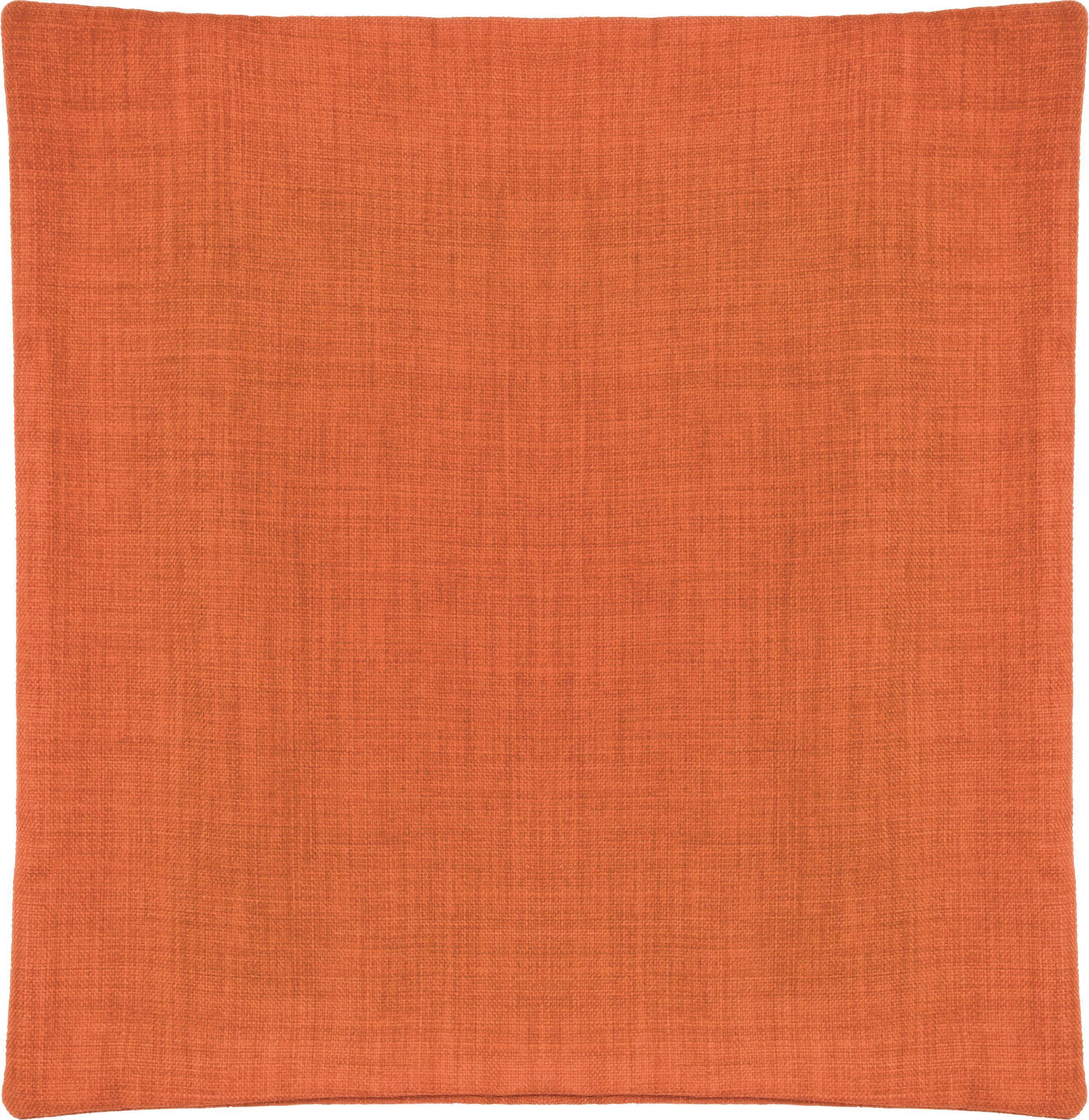Kissenhülle Leinenoptik, ca. 50x50cm - Orange, KONVENTIONELL, Textil (50/50cm) - MÖMAX modern living