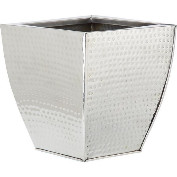 Cvetlični Lonček Surabi - nerjaveče jeklo, Trendi, kovina (21,5/14/21,5cm) - Mömax modern living