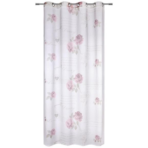 Ösenschal Diary Rose ca. 140x245cm - Weiß, ROMANTIK / LANDHAUS, Textil (140/245cm) - Mömax modern living