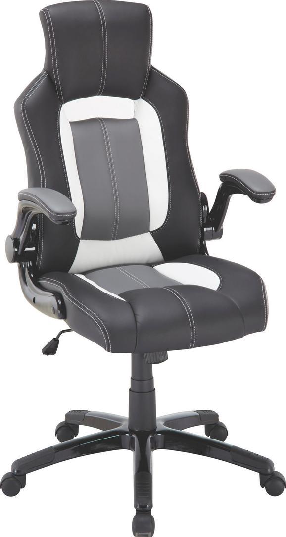 Főnöki Szék Riccardo - fekete/fehér, műanyag/textil (65/115,5/68cm) - MÖMAX modern living