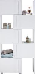 Regal Umbrien Ii - bela/krom, Moderno, kovina/leseni material (47-78/164/35cm) - Mömax modern living