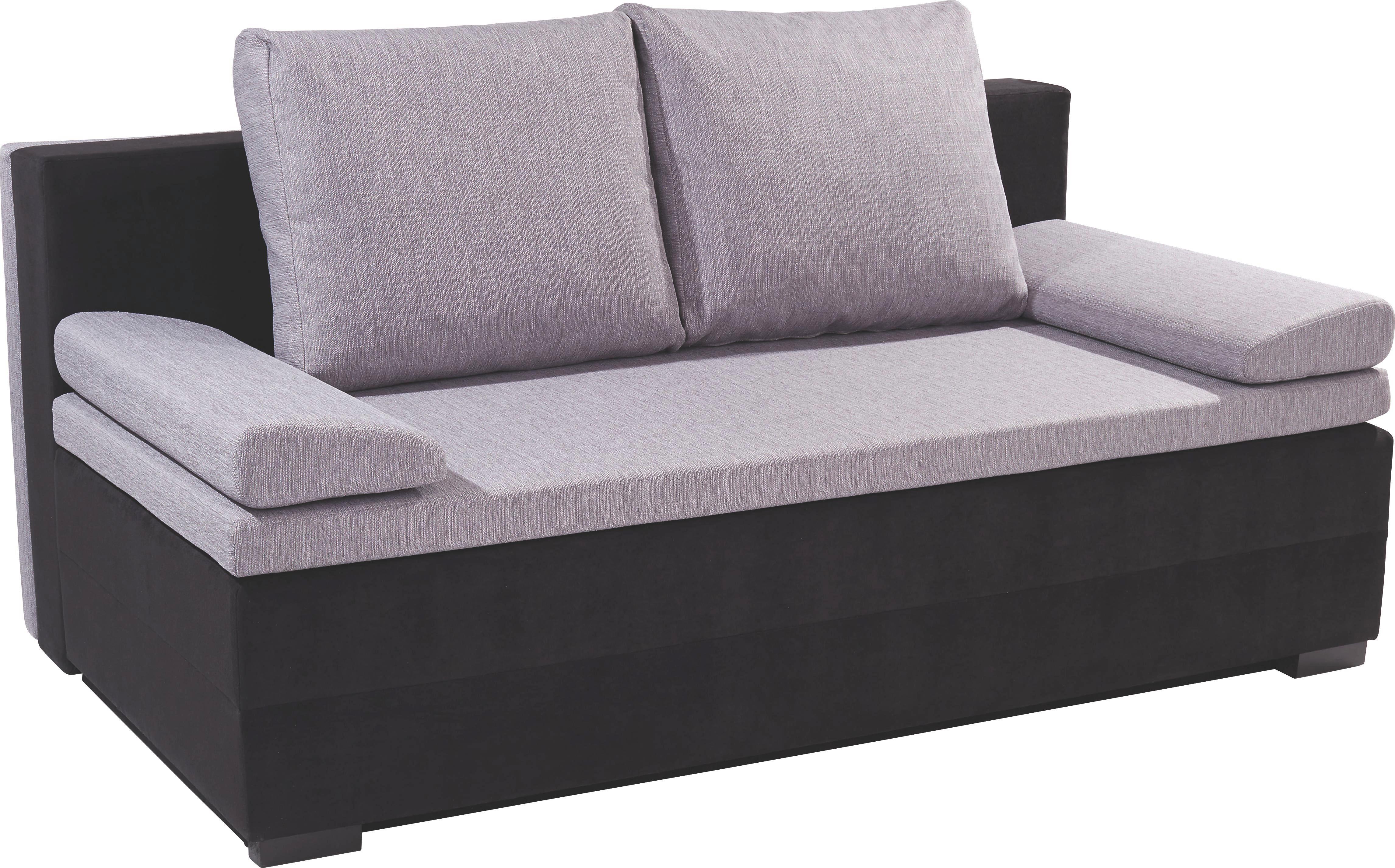 Kanapéágy Lilly 2 - fekete/szürke, modern, textil (200/95/110cm)