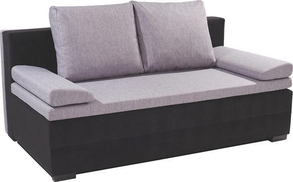 Kanapéágy Lilly 2 - Szürke/Fekete, modern, Textil (200/95/110cm)