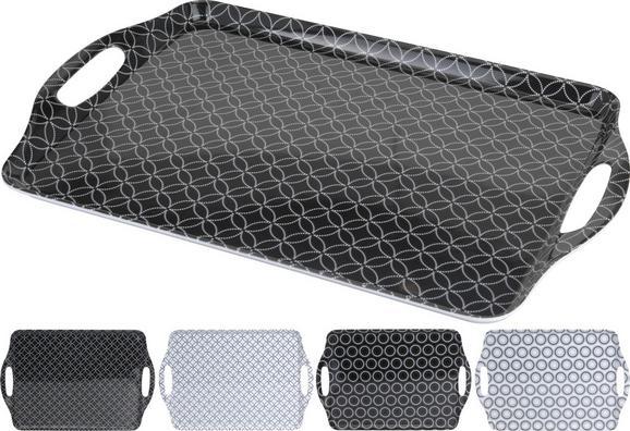 Tálca Shiva - Fehér/Fekete, Lifestyle, Műanyag (45/30cm) - Mömax modern living