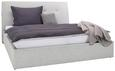 Polsterbett Hellgrau 160x200cm - Hellgrau, KONVENTIONELL, Holzwerkstoff/Textil (160/200cm) - Premium Living