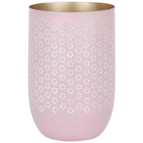 Vase Fleuri in Flieder - Flieder, Basics, Metall (13/13/20cm)