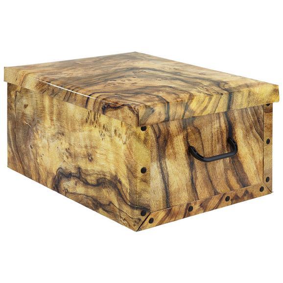 Box mit Deckel Foldy ca. 30l - Braun, Karton/Kunststoff (55/40/25cm)
