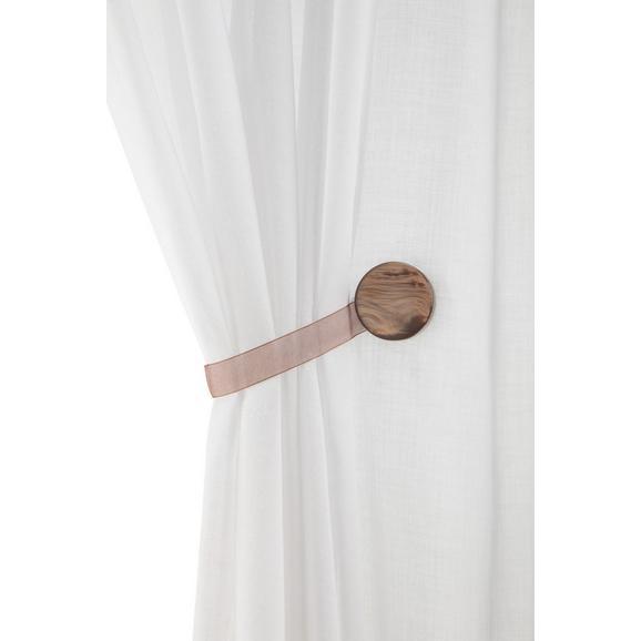 Dekoclip Perlmutt in versch. Farben - Weiß/Grau, Textil (4cm) - Mömax modern living