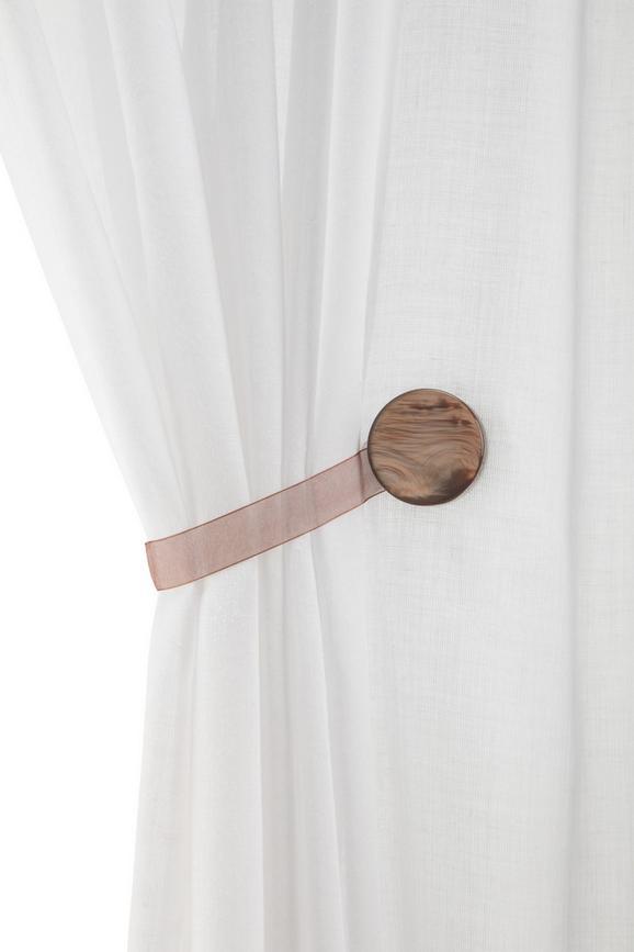 DEKORATIVNA SPONKA PERLMUTT - siva/bela, tekstil (4cm) - Mömax modern living