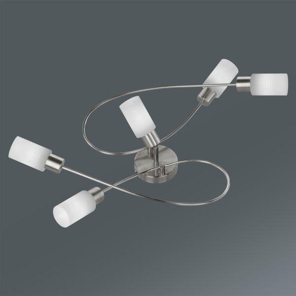 Mennyezeti Lámpa Iris - krómszínű, konvencionális, fém (80/23/48cm)