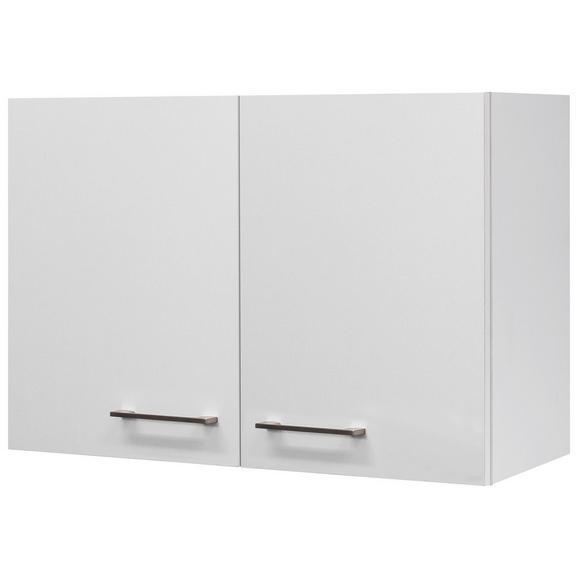 Küchenoberschrank Weiß - Edelstahlfarben/Weiß, MODERN, Holzwerkstoff/Metall (80/54/32cm)