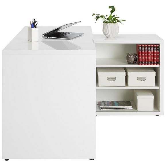 Eckschreibtisch in Weiß - Weiß, MODERN, Holzwerkstoff (140/74/120cm)