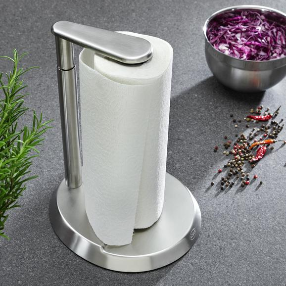 Küchenrollenhalter Rösle - Edelstahlfarben, KONVENTIONELL, Metall (26,5/32,5/22cm) - Rösle