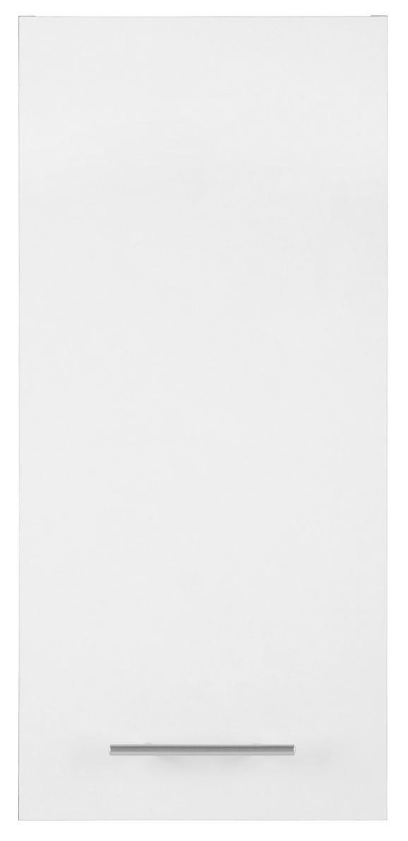Oberschrank Weiß/Eiche - Eichefarben/Alufarben, MODERN, Holzwerkstoff/Kunststoff (32,5/70/20,5cm) - MÖMAX modern living