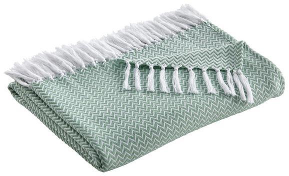 Posteljno Pregrinjalo Zac - zelena, tekstil (140/200cm) - Mömax modern living