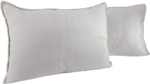 Leinen Zierkissen Luisa 40x60cm - Hellgrau, KONVENTIONELL, Textil (40/60cm) - MÖMAX modern living