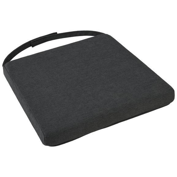 Sitzkissen Aruba in Grau ca. 46x5x40cm - Grau, Textil (46/42/5/40cm) - Zandiara