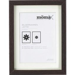 Bilderrahmen Gitta ca. 18x24cm aus Holz - Wengefarben, MODERN, Glas/Holz (18/24cm) - Mömax modern living