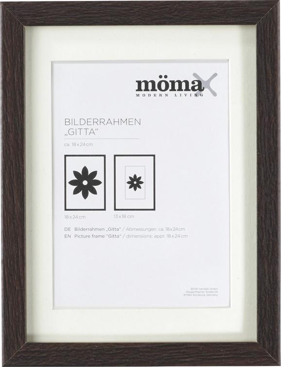Bilderrahmen Gitta, ca. 18x24cm aus Holz - Wengefarben, MODERN, Glas/Holz (18/24cm) - Mömax modern living