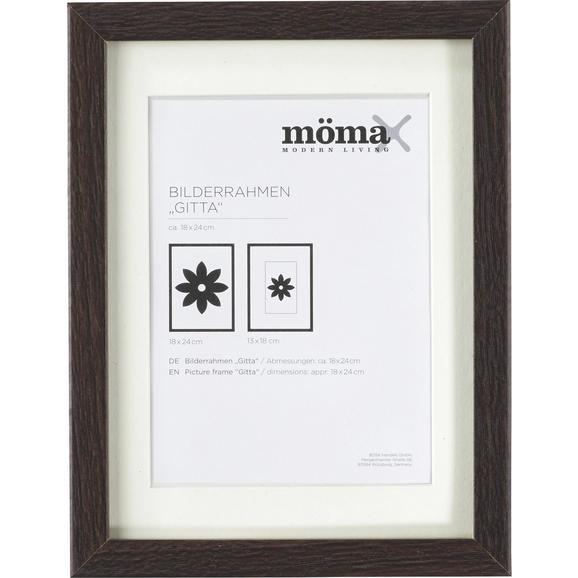 Képkeret Gitta - Wenge, modern, Faalapú anyag/Üveg (18/24cm) - Mömax modern living