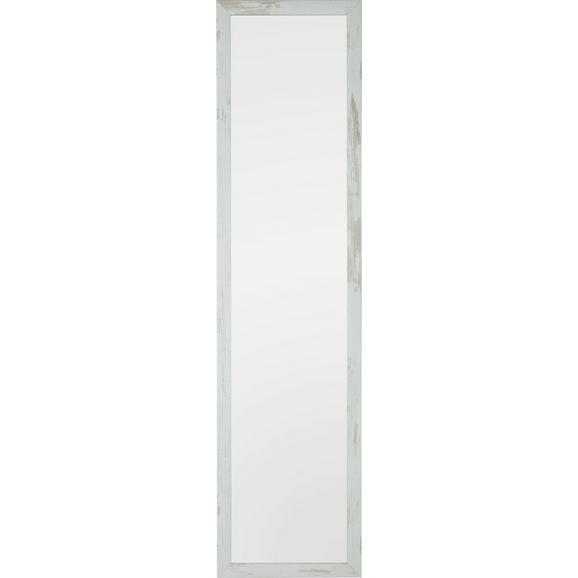 Stensko Ogledalo Old-white-heavy - bela, steklo/leseni material (40/160/2cm)
