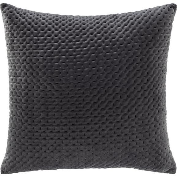 Kissen Miley Grau ca. 45x45cm - Grau, MODERN, Textil (45/45cm) - Bessagi Home
