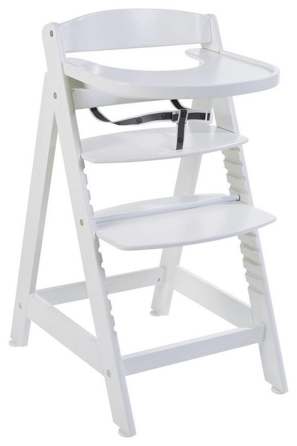 Hochstuhl in Weiß aus Holz - Weiß, Holz (45/87/58cm) - MODERN LIVING