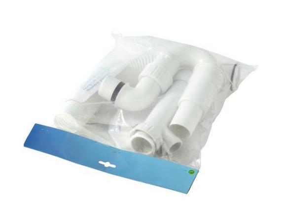 Spültischröhren- Siphon - Weiß, MODERN, Kunststoff
