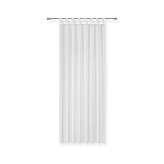 Perdea Cu Bride Hanna - Alb, Material textil (140/245cm) - Based